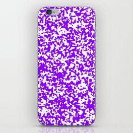 Small Spots - White and Violet iPhone Skin