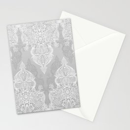 Lace & Shadows 2 - Monochrome Moroccan doodle Stationery Cards
