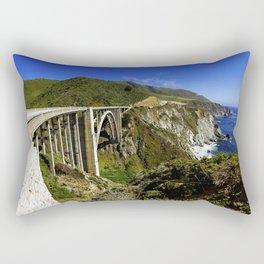 Bixby creek bridge, Big Sur, CA. Rectangular Pillow