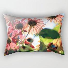 Coneflowers Basking in the Sun Rectangular Pillow