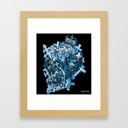 Rich Uncle Skullerting Framed Art Print