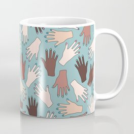 Nail Expert Studio - Colorful Manicured Hands Pattern Coffee Mug