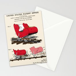 Roller Coaster Patent Stationery Cards