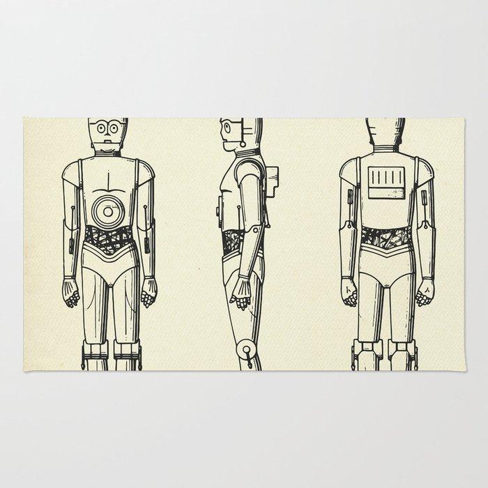 Robot C3PO-1979 Rug