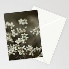little white flowers. Stationery Cards
