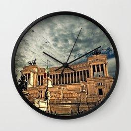 Vittorio Emanuele Monument Palace Rome Italy Wall Clock