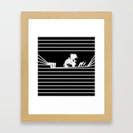 Evil Here Framed Art Print