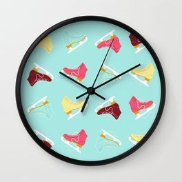 Ice Skating Wall Clock