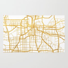 KANSAS CITY MISSOURI CITY STREET MAP ART Rug