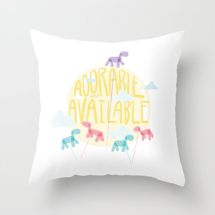 Adorable and Available Throw Pillow
