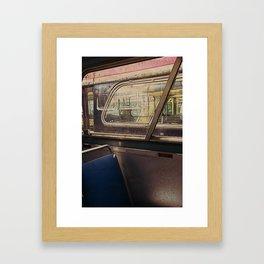 empty bus Framed Art Print