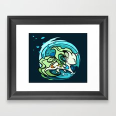 Water fox Framed Art Print