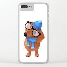 Smart Dachshund Clear iPhone Case