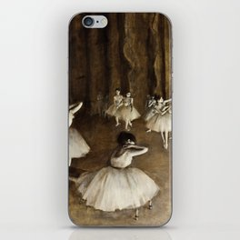 Edgar Degas - Ballet Rehearsal On Stage iPhone Skin