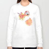 birdy Long Sleeve T-shirts featuring Birdy by la belette rose