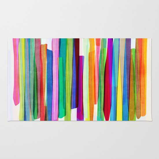 Colorful Stripes 1 Rug By Mareike B 246 Hmer Society6