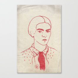 Frida in red Canvas Print