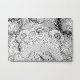 Foliated Marble as a Geometric Map of the Universe Metal Print