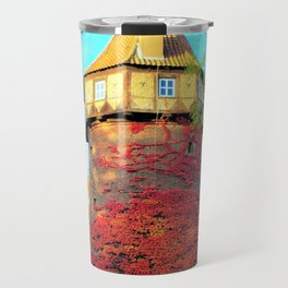 Tower in Autumn Travel Mug
