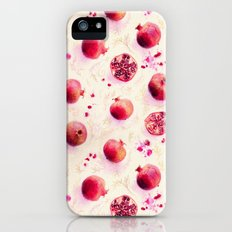 Painted Pomegranates with Gold Leaf Pattern Slim Case iPhone SE