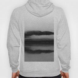 Black and White Alaska Photography, Enchanted Isle Hoody