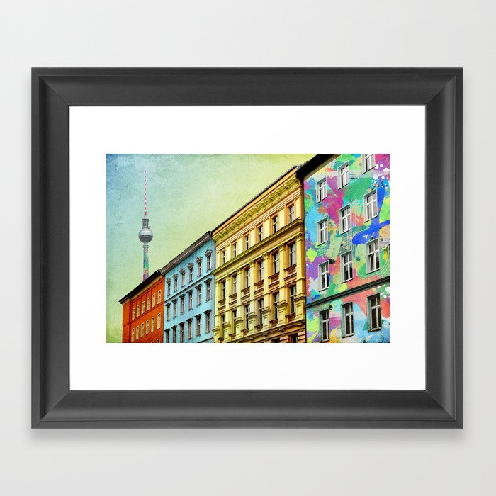 The Streets of Berlin Framed Art Print