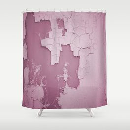 Damaged wall pic in background with pink color, ready for clothes,furnitures, iphone cases Shower Curtain