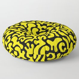 Social Networking Yellow Floor Pillow
