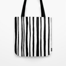 Into the Woods Stripes black Tote Bag