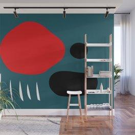 Minimal Red Black Abstract Art Wall Mural