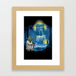 MAy the Tardis be with you! Framed Art Print