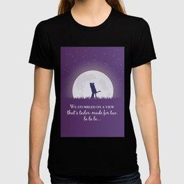La la land movie phrase moon love T-shirt