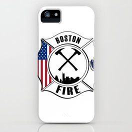 Boston Massachusetts Fire Rescue Department Firefighters Pullover Hoodie iPhone Case