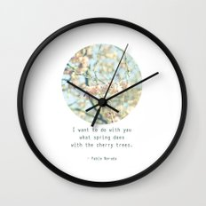 What the spring does to cherry trees Wall Clock