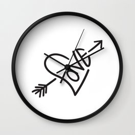 Love & Cupid's Arrow Wall Clock