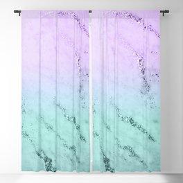 Unicorn Mermaid Girls Glitter Marble #1 #decor #art #society6 Blackout Curtain