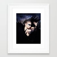 swan queen Framed Art Prints featuring Odile - Swan Queen  by Jay Aheer