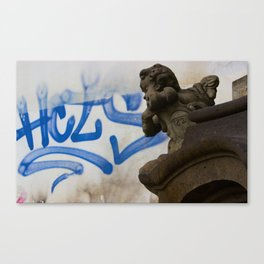Spray Cans Angels Canvas Print