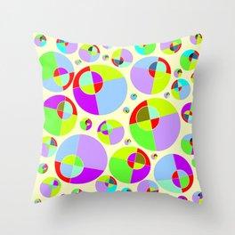 Bubble yellow & purple 10 Throw Pillow