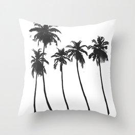 Five Palms Throw Pillow