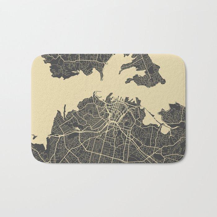 Auckland Map Bath Mat