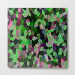 Smooth Abstract Pattern Metal Print