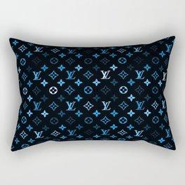 louisVuitton Blue black Rectangular Pillow