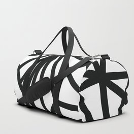 Modern Black and White geometric pattern #abstractart #decor Duffle Bag