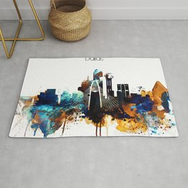 Dallas City Skyline Rug