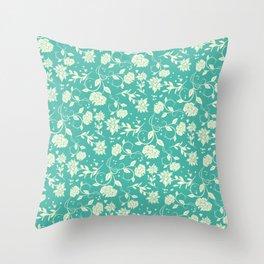 Delicate Blue Sunlight Flowers Blossom Throw Pillow