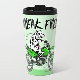 Cow riding a motorbike Travel Mug