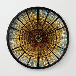 Barcelona glass window stained glass Wall Clock