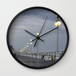 Rainy Boardwalk Wall Clock