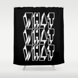 WHAT keeps happening: White Shower Curtain
